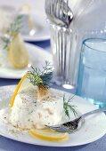 Smoked fish and horseradish flan