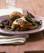 Stuffed chicken breast with morels and figs