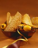 Feine Orangen-Mandel-Blätter