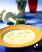 Creamed fennel soup with saffron