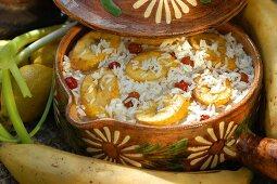 Arroz con Platano (rice with bananas)