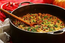 Arroz carreteiro (rice and beef stew, Brazil)