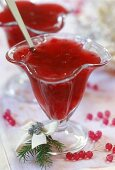 Cranberry jelly, Christmas dessert from Poland
