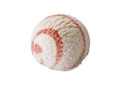 A scoop of strawberry yoghurt ice cream