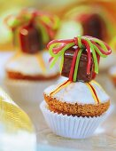 Muffins with nougat as a gift