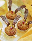 Almond spekulatius muffins (reindeer muffins)