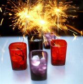 Table decoration with sparklers