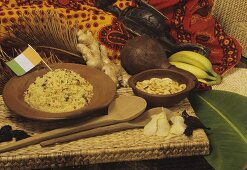 Attiéké (manioc couscous, Ivory Coast)