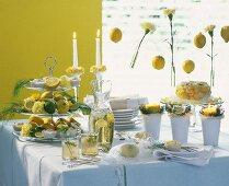 Summer buffet with lemons