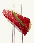 Nigiri-sushi with tuna