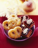 Danish sugar pretzels and spelt hazelnut squares