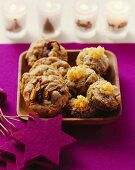 Cranberry & peanut cookies & white chocolate pistachio biscuits