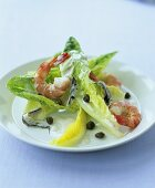 Shrimp and sardine salad with capers