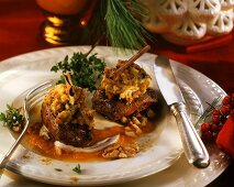 Venison medallion with chestnuts
