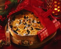 Fruit and nut cake for Christmas