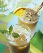 Orange buttermilk with sea buckthorn; mango kefir with ginger