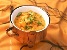 Vegetable korma (vegetable stew from Karnataka, India)
