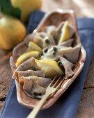 Vitello tonnato (Veal with tuna sauce, Italy)