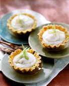 Ricotta tart with candied lemon peel