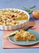 Nectarine tart with almonds