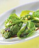 Komatsuma salad (salad crop from Japan)