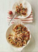 Conchiglie gratinate (Pasta shells au gratin, Italy)