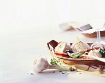 Spicy fish salad with herb dressing (Spain)