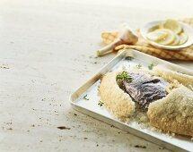 Fish in salt crust (Canary Islands)