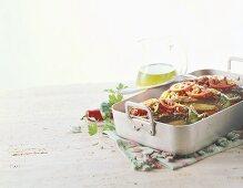 Karniyarik (stuffed aubergines, Turkey)
