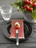 Autumnal place-setting