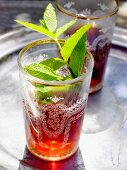 Tea with fresh mint (North Africa)