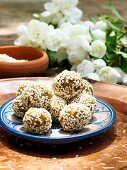 Walnut and sesame seed balls (North Africa)
