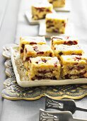 Slices of cranberry cake