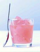 Pink grapefruit jelly drink