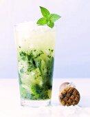 A glass of Mojito