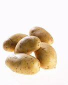 Five potatoes, variety 'Annabelle'