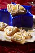 Iced ginger biscuits