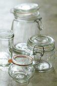 Preserving jars of various sizes