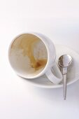 Empty coffee cup (with dregs)