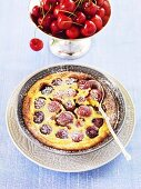 Cherry clafoutis (Cherry batter pudding)