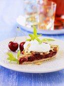 Swiss cherry tart
