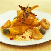Chicken with pickled lemons and couscous