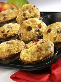 Apple and sour cream muffins