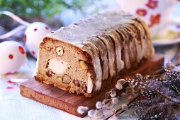 Rabbit terrine with nuts for Easter