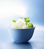 Frozen Mojito in a bowl