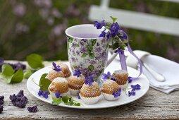 Violet muffins for Easter