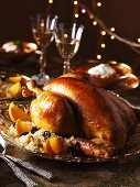 Roast capon with couscous (Christmas)