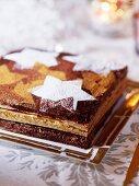 Opera cake (Chocolate cake, France)