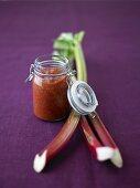 Rhubarb and tomato ketchup