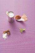 Coconut milk, tandoori paste, red lentils and spices